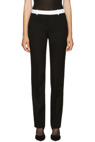 Givenchy - Black Wool Straight Trousers