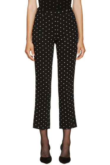 Givenchy - Black Cross Print Trousers