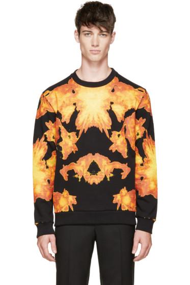 Givenchy - Black Flame Print Sweatshirt
