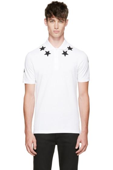 Givenchy - White Star Collar Polo Shirt
