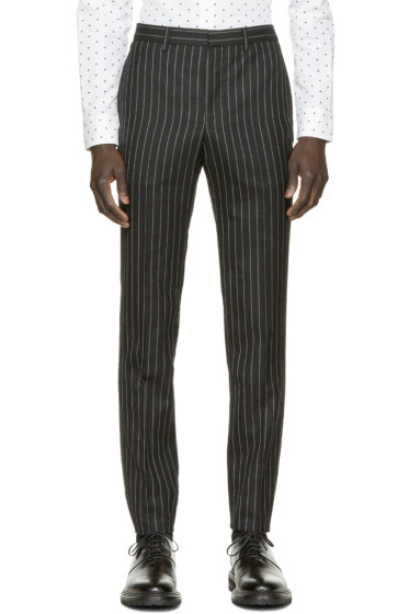 Givenchy - Black Wool Pinstripe Trousers