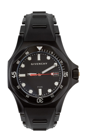 Givenchy - Black Matte Five Shark Watch