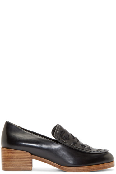 3.1 Phillip Lim - Black Saddle Stitch Jasper Loafers