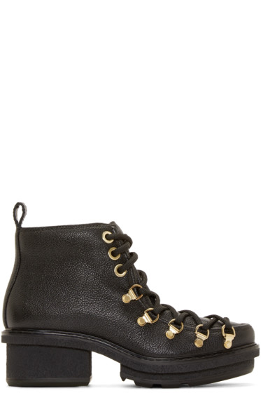 3.1 Phillip Lim - Black Platform Mallory Ankle Boots