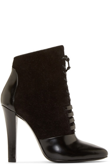 3.1 Phillip Lim - Black Lace-Up Harleth Ankle Boots