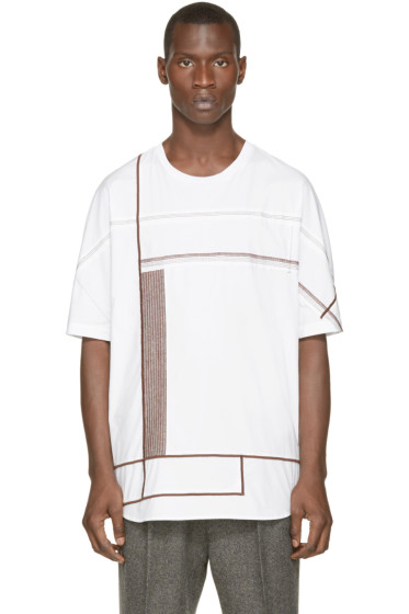 3.1 Phillip Lim - White Embroidered T-Shirt