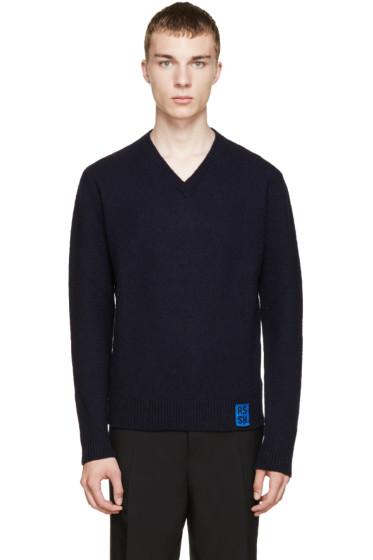 Raf Simons - Navy Lambswool Sweater