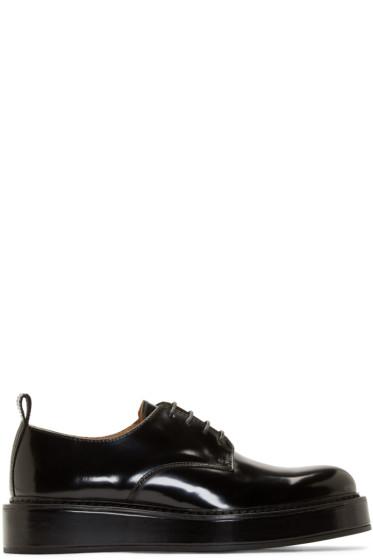Carven - Black Leather Flatform Derbies