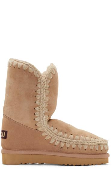 Mou - Camel Shearling Eskimo 24 Boots