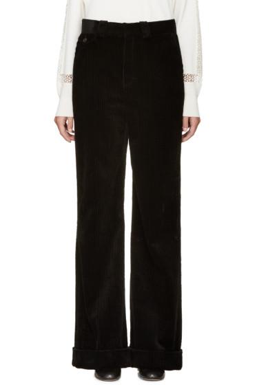 Chloé - Black Corduroy Flared Trousers