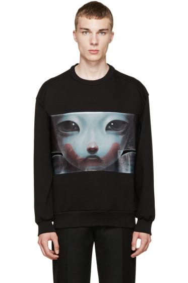 Juun.J - Black Graphic Sweatshirt