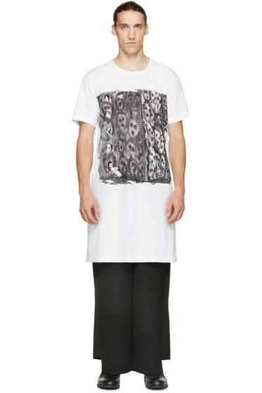 Comme des Garçons Homme Plus - White Oversized Graphic T-Shirt
