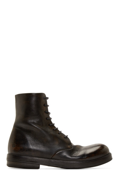 Marsèll - Black Leather Combat Boots