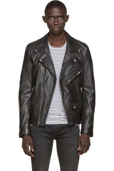 BLK DNM - Black Leather 91 Biker Jacket