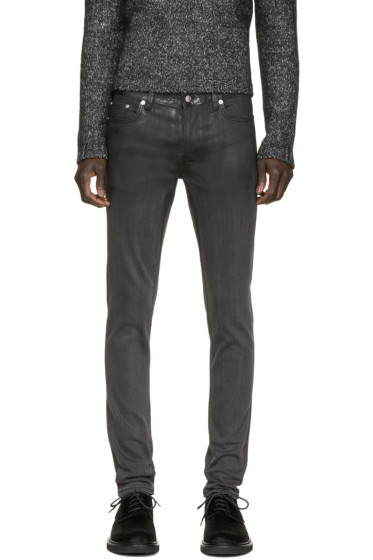 BLK DNM - Black Partially Coated 25 Jeans