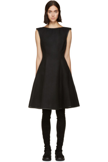 Gareth Pugh - Black Full Skirted Wool Dress