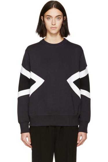 Neil Barrett - Navy Double Modernist Sweatshirt
