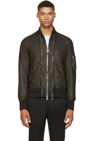 Neil Barrett - Black Double Zip Bomber Jacket
