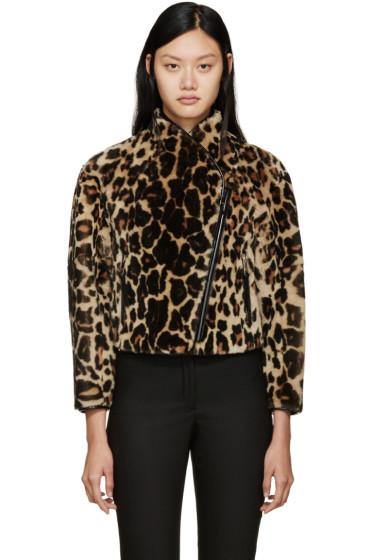 Burberry Prorsum - Leopard Print Shearling Jacket
