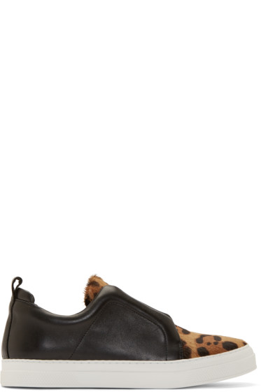 Pierre Hardy - Black Stella Slip-On Sneakers