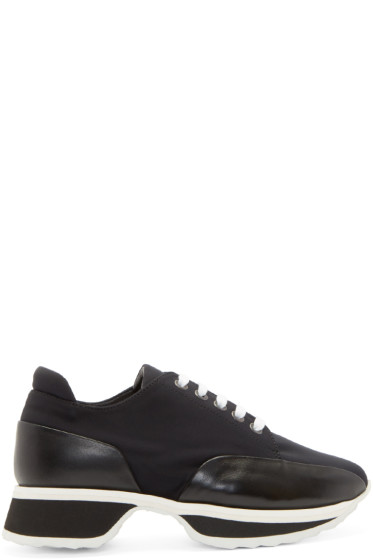 Pierre Hardy - Black Neoprene Turbo Sneakers