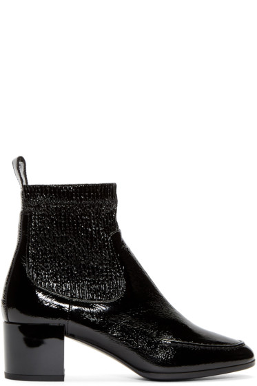 Pierre Hardy - Black Patent Ace Ankle Boots