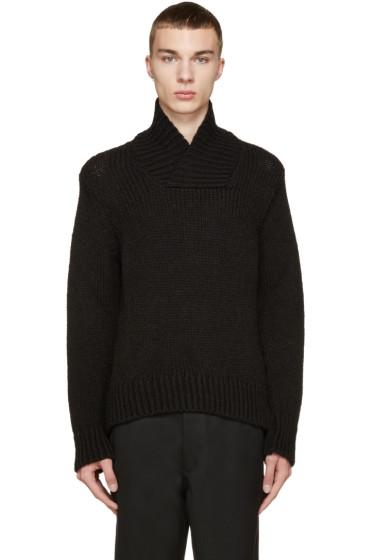 Ann Demeulemeester - Black Alpaca Character Sweater