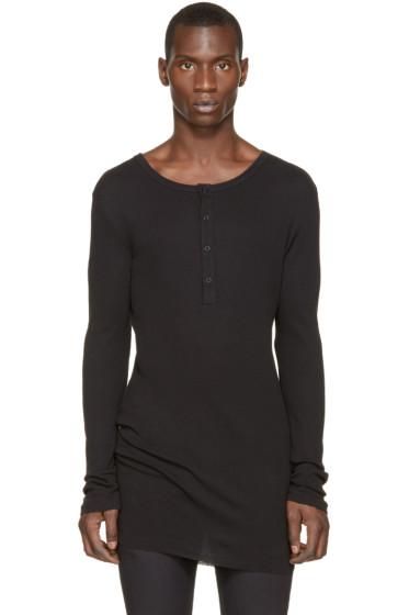 Ann Demeulemeester - Black Henley T-Shirt