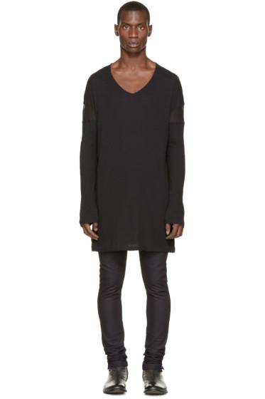 Ann Demeulemeester - Black Overlong T-Shirt
