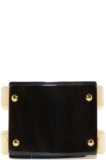 Marni - Black Horn Cuff Bracelet