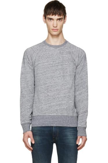 Paul Smith Jeans - Grey Slub Sweatshirt