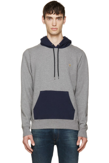 Paul Smith Jeans - Grey Logo Kangaroo Hoodie