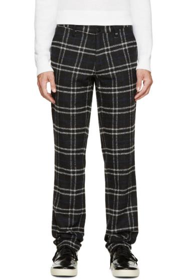 Paul Smith Jeans - Grey & Blue Plaid Pants
