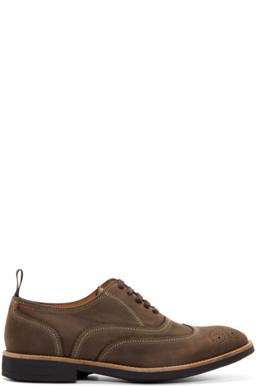 Paul Smith Jeans - Brown Nubuck Baer Oxfords