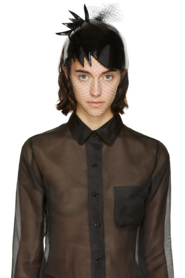 Thom Browne - Black Veil Pixi Hair Cut Hat