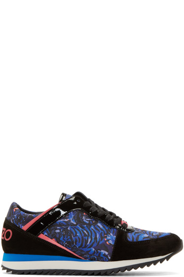Kenzo - Purple Flying Tiger Print Sneakers