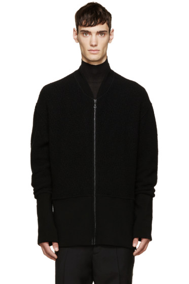 Kenzo - Black Wool Zip-Up Jacket