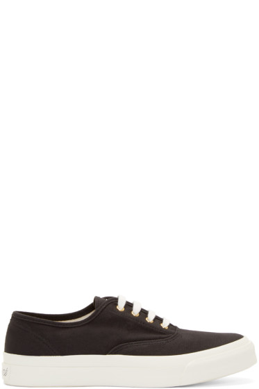 Maison Kitsuné - Black Canvas Classic Sneakers