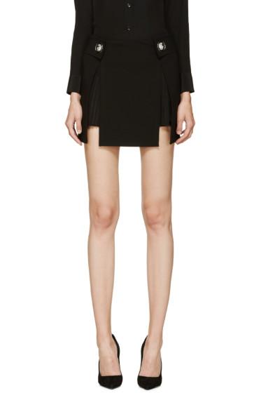 Versus - Black Kilt Miniskirt