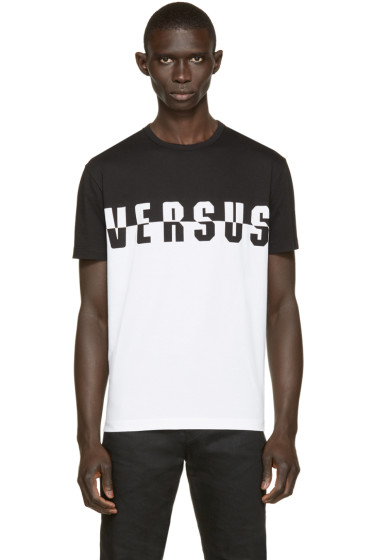 Versus - Black & White Logo T-Shirt