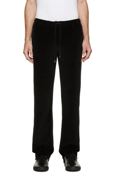 Versace - Black Velour Tracksuit Pants