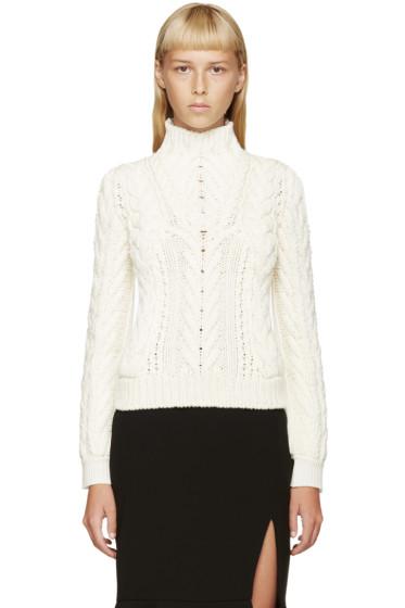 Altuzarra - Ivory Wool Cable Knit Harper Turtleneck