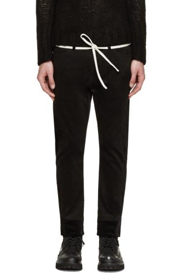 Sasquatchfabrix - Black Corduroy Skinny Trousers