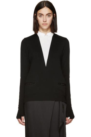 Undercover - Black & White Mock V-Neck Sweater