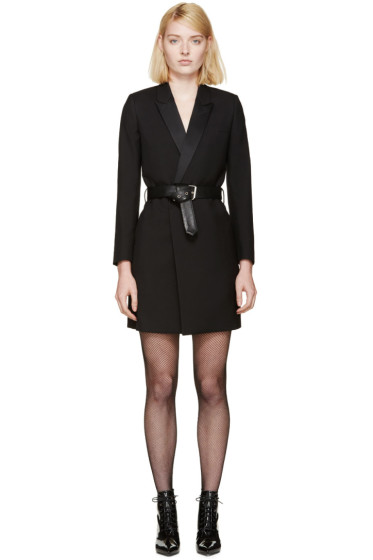 Saint Laurent - Black Belted Blazer Dress