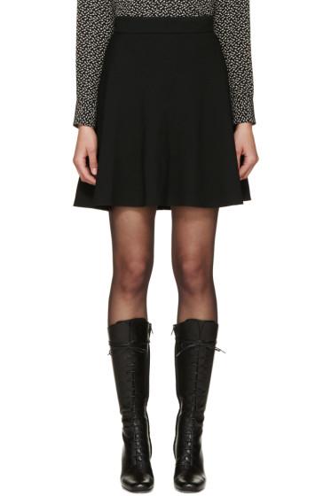 Saint Laurent - Black Crêpe Flare Skirt