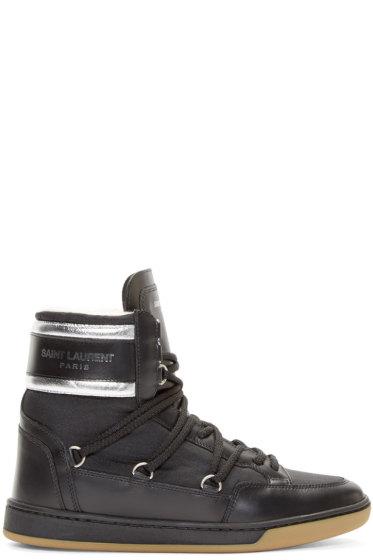 Saint Laurent - Black Sherpa-Lined Winter Sneakers