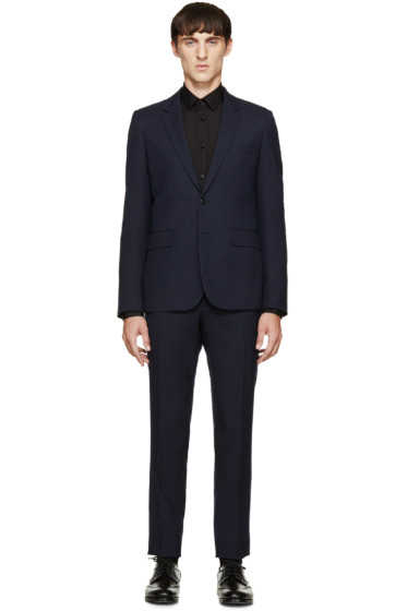 Saint Laurent - Navy Wool Gabardine Classic Suit