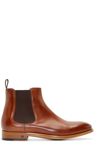 PS by Paul Smith - Brown Leather Contrast Bertram Chelsea Boots