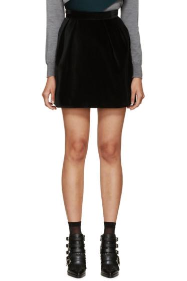 MSGM - Black Velvet Skirt